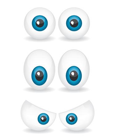 ojos llorando: Ilustración de dibujos animados de ojos Vectores