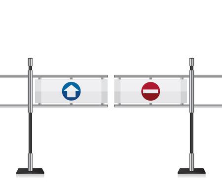 go to store: Entrance gate illustration