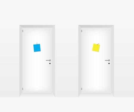 forepart: White doors illustration