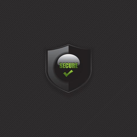 Secure check mark shield icon Vector