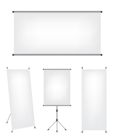 projection screen: Roll up xstand banner and projection screen