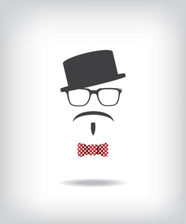 disfrazados: Hipster hombre ilustraci�n