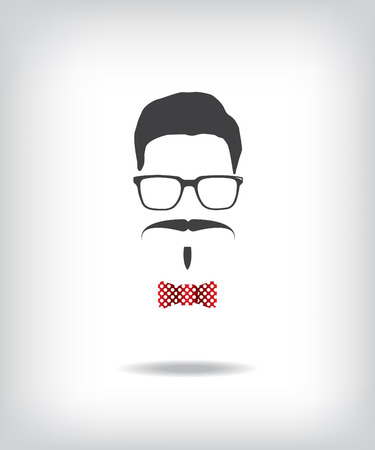 disguised: Hipster man illustration