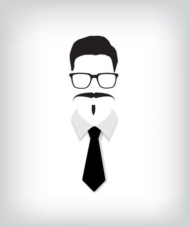 Hipster man with black tie