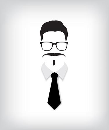 disfrazados: Hombre inconformista con el lazo negro
