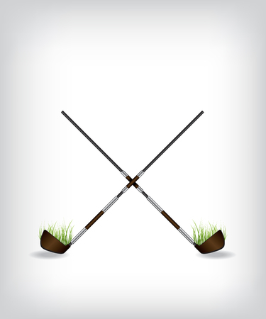 silver grass: Golf stick illustration