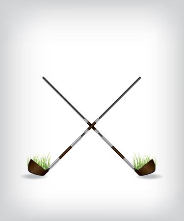 golf stick: Ilustraci�n Golf stick Vectores