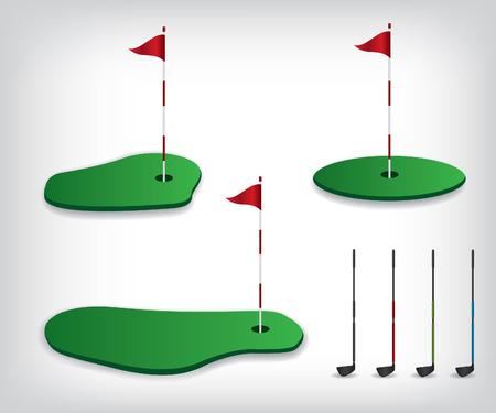Campo de golf ilustración Foto de archivo - 40562164