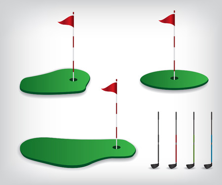 golf stick: Golf course illustration