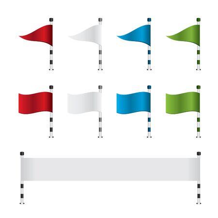 golf stick: Golf flag and banner set Illustration