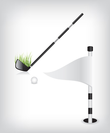 Golf stick and flag