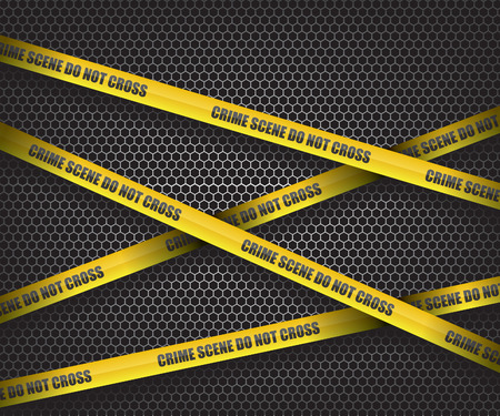 crime: Crime scene do not cross Illustration