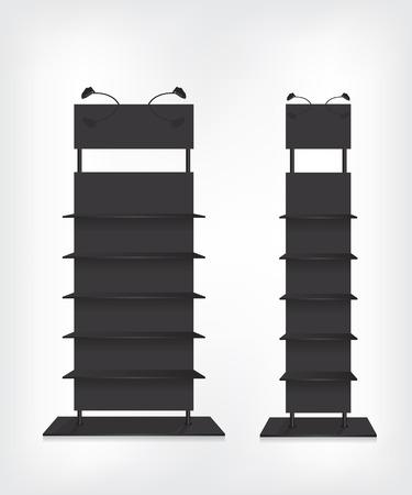 Regalen schwarz Standard-Bild - 40981610