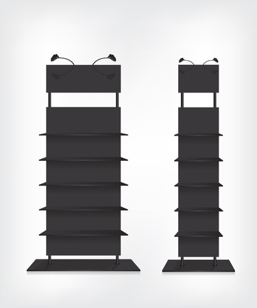 Shop shelves black