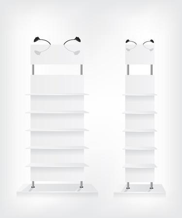 Shop shelves white Illustration