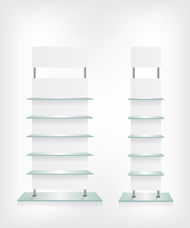 hanging shelves shop glass shelves white