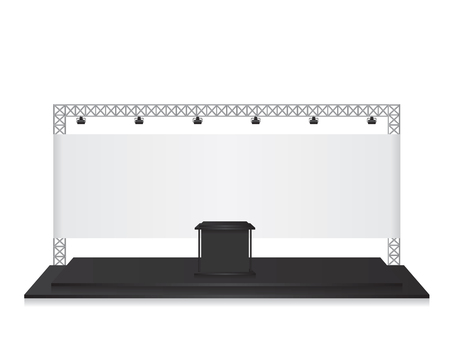 Trade exhibition stand black