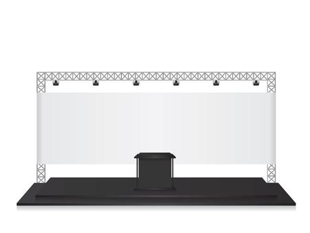 exhibition display: Trade exhibition stand black