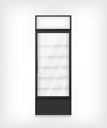 cooler boxes: Commercial refrigerator illustration Illustration