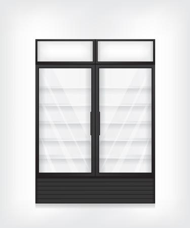 vertical fridge: Commercial refrigerator with two door