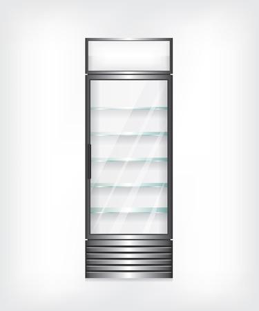 bebida: Frigorífico com prateleiras de vidro