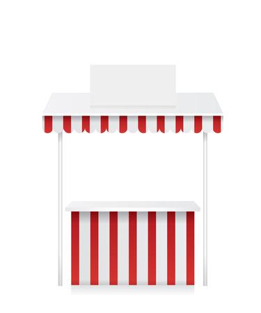 bancarella: Stalla del mercato illustrazione Vettoriali