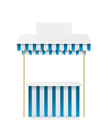 Market stall shop illustration