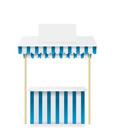 bancarella: Mercato negozio bancarella illustrazione