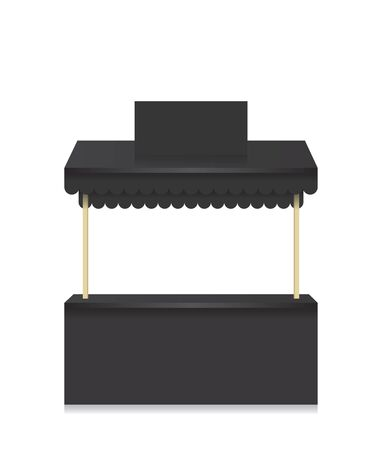 bancarella: Bancarella negozio illustrazione nero