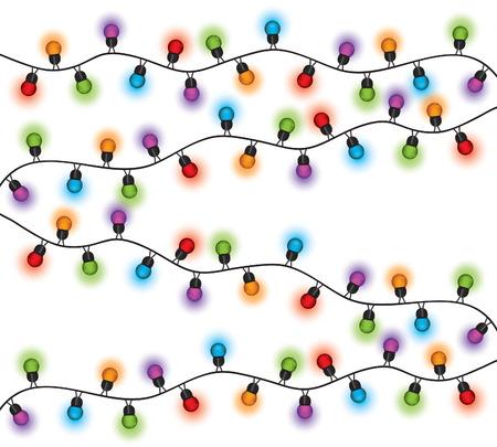 Weihnachtsbeleuchtung verschiedenen Farben Standard-Bild - 49121276