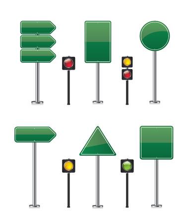 new direction: Road sign set illustration