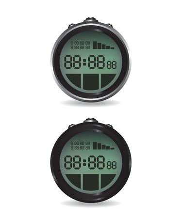 digital illustration: Digital stopwatch illustration