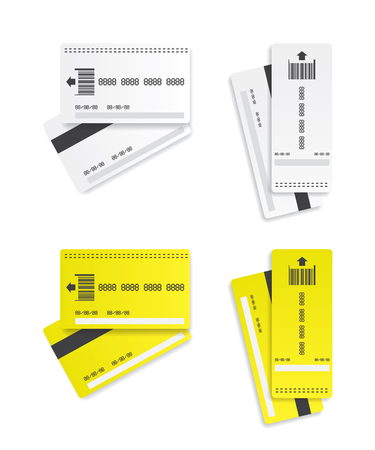 car bills: Parking tickets illustration Illustration