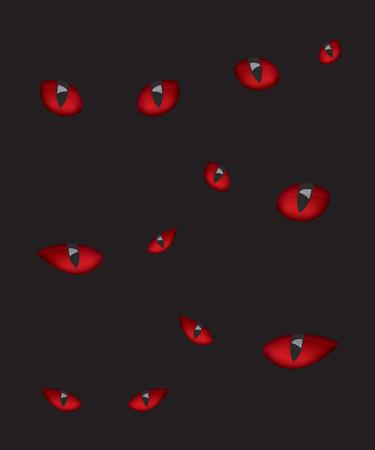 dark eyes: Devil eyes in the dark