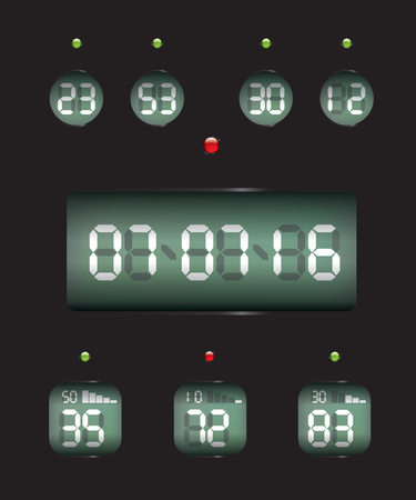 date: Countdown Timer date and clock Illustration