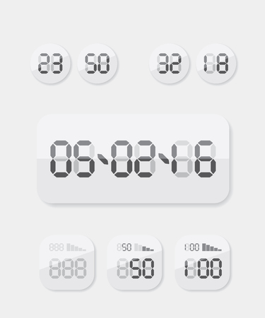 countdown timer: Countdown Timer date and clock illustration