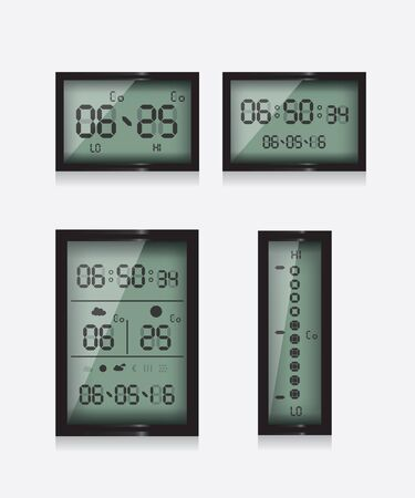 digital thermometer: Weather report station
