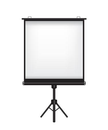 movie film: Projector screen illustration on white background Illustration