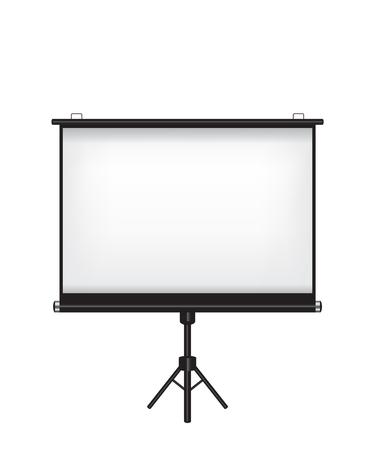 Projectorscherm op witte achtergrond Stock Illustratie