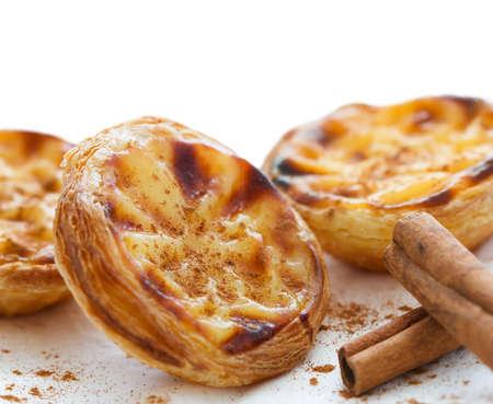 nata: traditional portuguese cakes  pasteis de nata