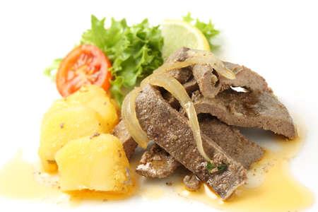 Pork Liver dish,  Portuguese  Style- iscas com elas  photo
