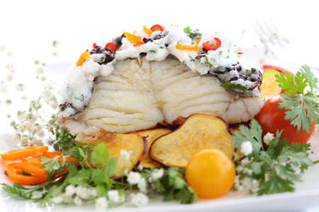christmas dish: traditional portuguese christmas dish with a twist - boiled cod fish with sweet potatoes