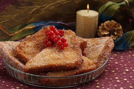 christmas dish: traditional portuguese christmas dish- similar to french toasts