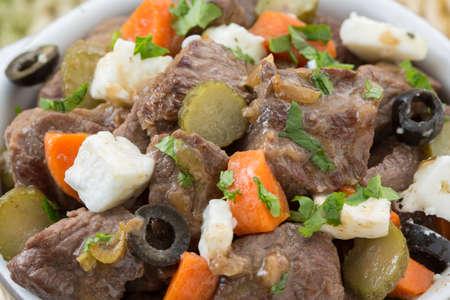 carne roja: Portugu�s tradicional plato pica-pau de carne roja picante