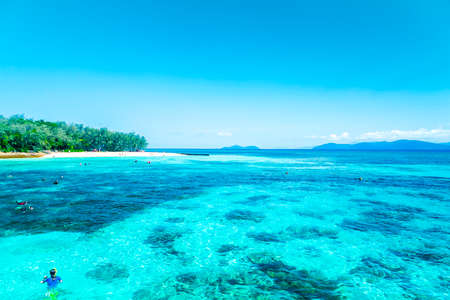 barrier: The Great Barrier Reef in Queensland State, Australia