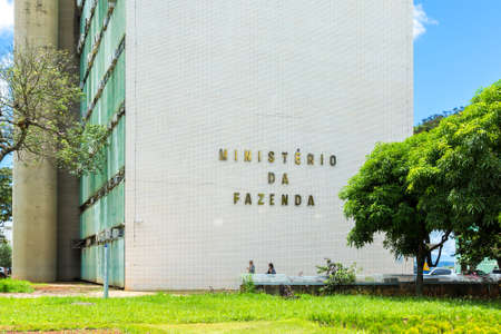 ministry: Department of the Treasury Ministry of Finance in Brasilia, Brazil Stock Photo