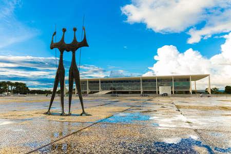 law of brazil: BRASILIA, BRAZIL - CIRCA MARCH 2015: Square of the Three Powers in Brasilia, the capital of Brazil