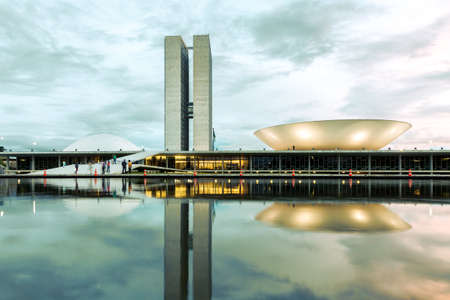 Brazilian National Congress in Brasilia, Brazil.