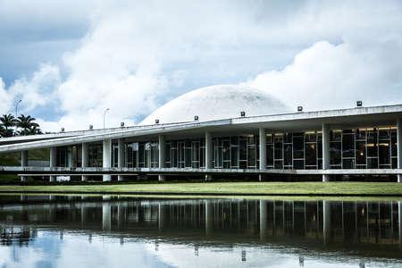 national congress: BRASILIA, BRAZIL - CIRCA MARCH 2015: Brazilian National Congress in Brasilia, Brazil. Editorial
