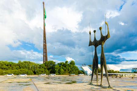 law of brazil: Two Candangos in Brasilia, Brazil